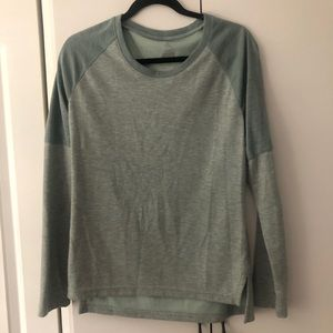 Adidas long sleeve shirt 2 tones seafoam green